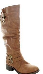 Carol knee high riding boot in cognac